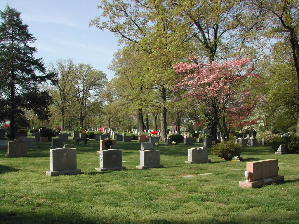 Photo of burial monuments in Columbia Gardens Cemetery